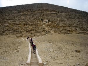 The way to the entrance of the Red Pyramid in Dahshur