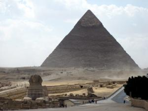 The Sphix and Khafre's pyramid